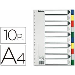 Separadores plastico Esselte Din A4 juego de 10