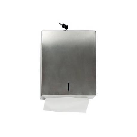Dispensador de toallitas grande Q-Connect inoxidable