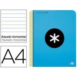 Bloc Antartik A4 Rayado Horizontal tapa Plástico 100g/m2 color Azul 5 bandas color