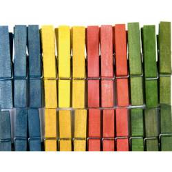 Pinza de madera colores surtidos marca itKrea