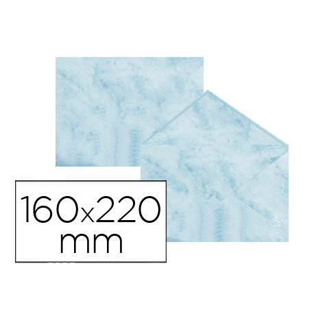 Sobre marmoleado Michel fantasia azul 160 x 220 mm