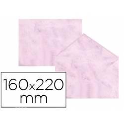 Sobre marmoleado Michel fantasia rosa 160 x 220 mm