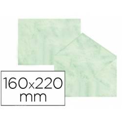 Sobre marmoleado Michel fantasia verde 160 x 220 mm