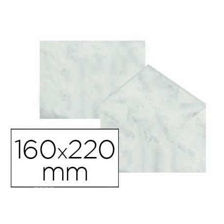 Sobre marmoleado Michel fantasia gris 160 x 220 mm