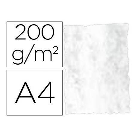 Papel pergamino DIN A4 troquelado Gris marmoleado