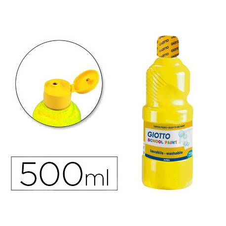 Tempera Giotto amarillo 500 cc