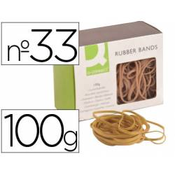Gomillas elasticas q-connect 100 gr numero 33
