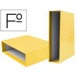 Caja archivador Liderpapel de palanca Folio documenta Amarillo