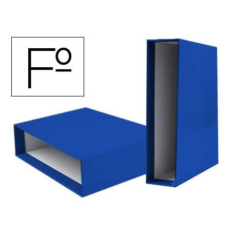 Caja archivador Liderpapel de palanca Folio documenta Azul
