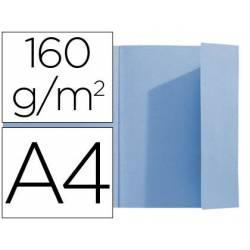 Subcarpeta Exacompta nature future din A4 azul 160 g/m2 solapa interior