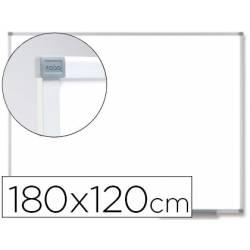 Pizarra Blanca Vitrificada Magnetica marco de aluminio 180x120 Nobo