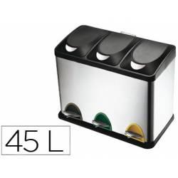 Papelera contenedor Q-connect de 45 L 3 depositos