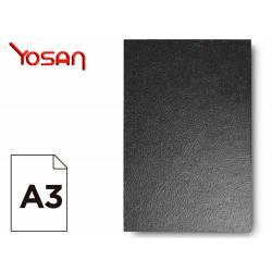 Tapa de encuadernacion plastico Yosan A3 negra