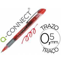 Boligrafo Q-connect roller ball rojo 0,5 mm
