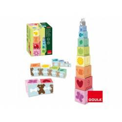Juego educativo a partir de 1 años 10 Cubos apilables Goula