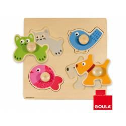 Puzzle a partir de 1 año Animales domesticos marca Goula
