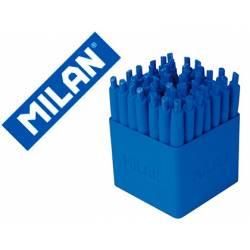 BOLIGRAFO MILAN P1 RETRACTIL 1 MM TOUCH AZUL EXPOSITOR DE 40 UNIDADES
