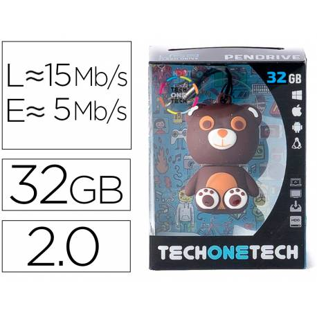 MEMORIA USB TECH ON TECH OSITO TOTUS 32 GB