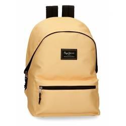 Mochila portaordenador marca Pepe Jeans Aris Colorful Amarillo Pastel 31 cm x 44 cm x 17,5 cm