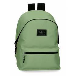 Mochila portaordenador marca Pepe Jeans Aris Colorful Verde Claro 31 cm x 44 cm x 17,5 cm