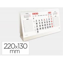 CALENDARIO ESPIRAL TRIANGULAR MARCA LIDERPAPEL 2022 22X13 CM PAPEL 120 GR TEXTO EN CATALAN