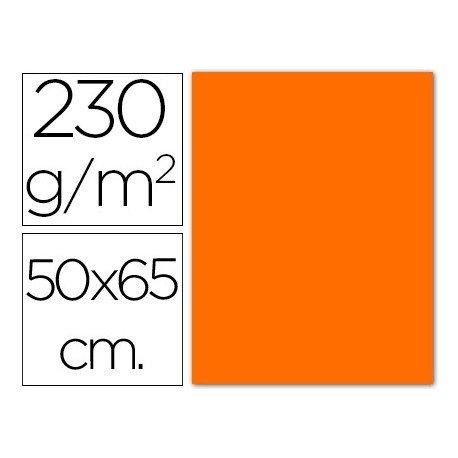 Cartulina naranja fluorescente Sadipal