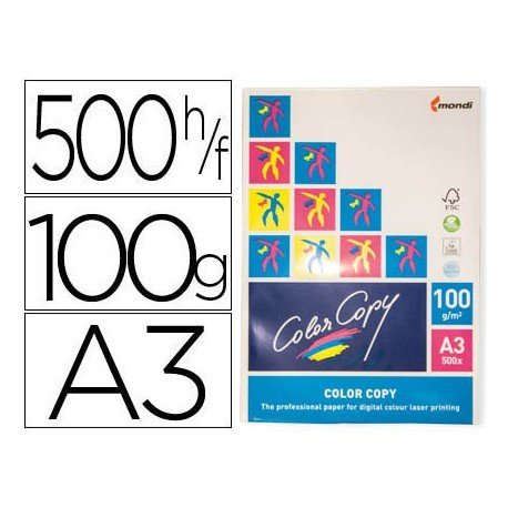 Papel multifuncion Mondi Color Copy A3 100 g/m2 Satinado