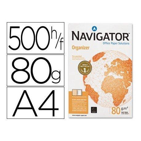 Papel multifuncion A4 Navigator 80 g/m2 -4 Taladros -