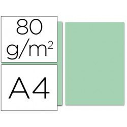 Papel color Liderpapel verde A4 80 g/m2