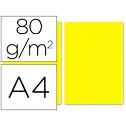 Papel color Liderpapel amarillo A4 80 g/m2