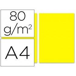 Papel Liderpapel color amarillo A4 80 g/m2 100 hojas