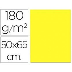 Cartulina Liderpapel amarillo 180 g/m2 y 50x65 cm