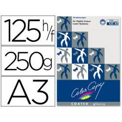 Papel multifuncion Mondi Color Copy A3 250 g/m2 Brillo