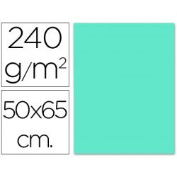 Cartulina Liderpapel azul turquesa 240 g/m2