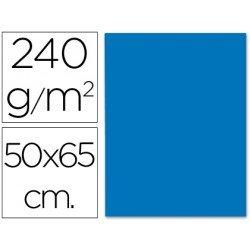 Cartulina Liderpapel azul 240 g/m2