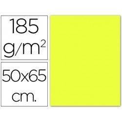 Cartulina Guarro amarillo limon 500 x 650 mm 185 g/m2