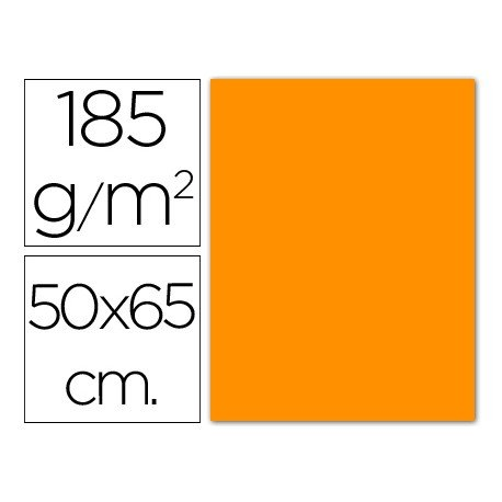 Cartulina Guarro naranja 500 x 650 mm 185 g/m2