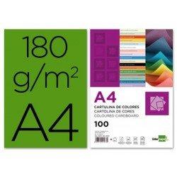 Cartulina Liderpapel verde abeto a4 180 g/m2