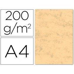 Cartulina marmoleada DIN A4 Ocre