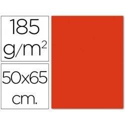 Cartulina Guarro tomate 500 x 650 mm 185 g/m2
