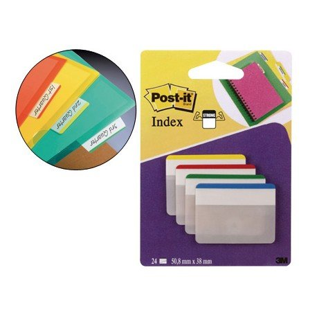 Index Post-it ® rígidos grandes planos