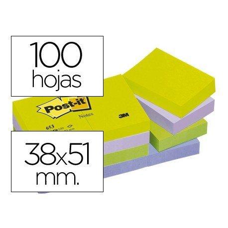 Post-it ® Bloc quita y pon colores ultra intensos