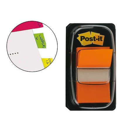 Index Post-it ® medianos color naranja