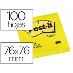 Post-it ® Bloc quita y pon amarillo neon 76 x 76 mm