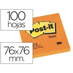 Post-it ® Bloc quita y pon naranja 76 x 76 mm