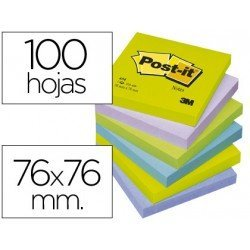 Post-it ® Bloc quita y pon Neon surtido