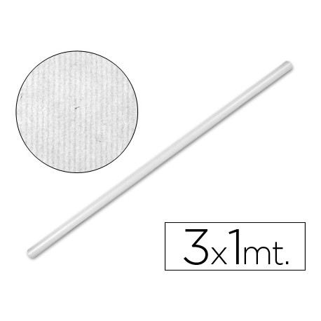 Bobina papel kraft Liderpapel 3 x 1 m blanco