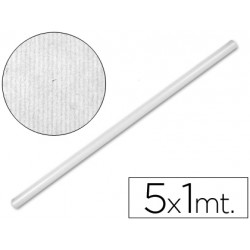 Bobina papel kraft Liderpapel 5 x 1 m blanco
