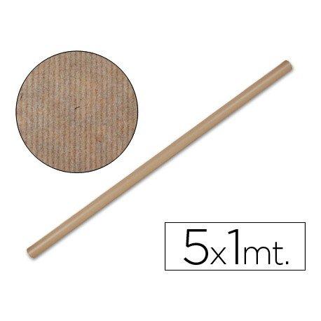 Bobina papel kraft Liderpapel 5 x 1 m marron