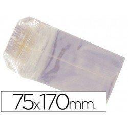 Bolsas de celofan 75x170 mm. Paquete de 100 unidades